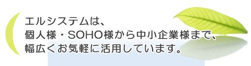 大阪 近畿 倉庫・運送業務 : エルシステムは、SOHOから中小企業まで幅広くお気軽に活用しています。